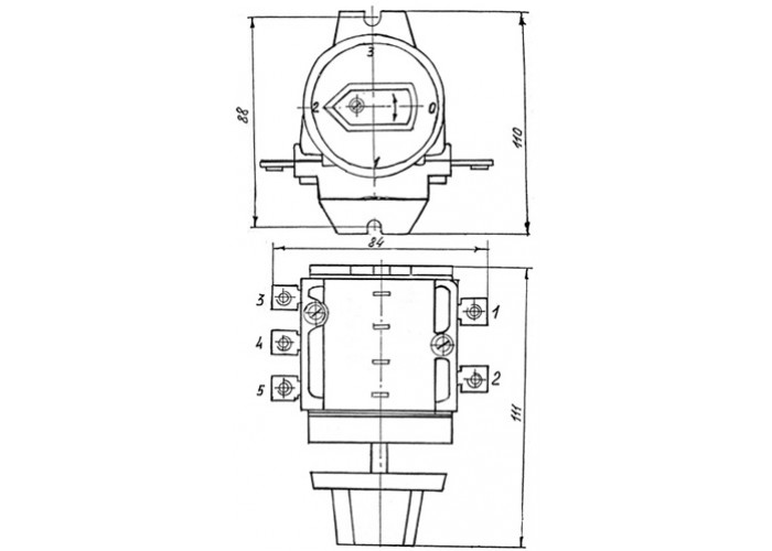 Переключатель электроплит ПМ-ППКТ (алюмин.) ВРЕИ685119001