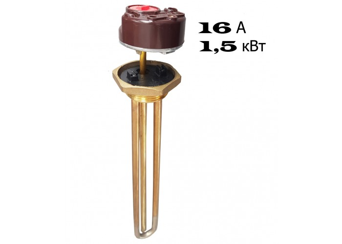 ТЭН для водонагревателей в комплекте с терморегулятором 15 А, 1.5 кВт, типа Ariston