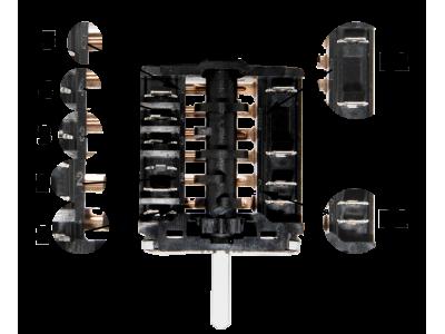 Подключение определенных моделей переключателя к конфорке в электроплитах