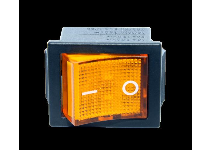 Кулисный переключатель KCD4 101 желтый