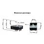 Переключатель для стеклокерамических плит двухзонный EGO 50.87021.000