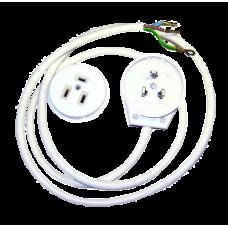 Провод для эл. плиты КГ 3х2,5 с РШ/ВШ (175 см. черный)