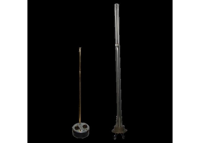 ТЭН радиаторный из нержавейки 1500 Вт в комплекте с терморегулятором (левая резьба)