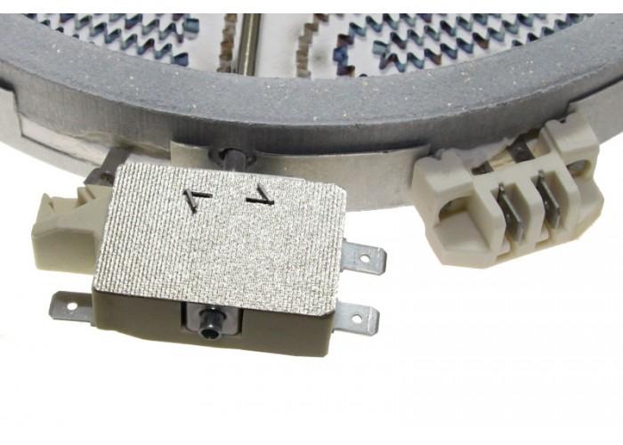 Электроконфорка 230 мм  1000/2200 Вт AL115011642 для стеклокерамической плиты двухконтурная  HL-101.2200DC