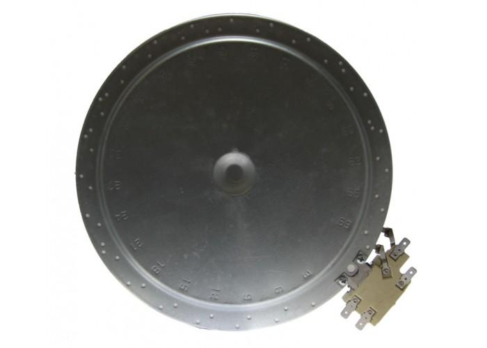 Электроконфорка 230 мм  2200 Вт AL115012634 для стеклокерамической плиты одноконтурная  HL-101.2200