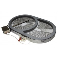 Электроконфорка овальная 165х270мм с двумя зонами нагрева  2000/900 Вт AL114770352 для стеклокерамической плиты HL-101 2000/900