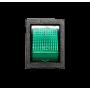 Кулисный переключатель KCD4 201 зеленый