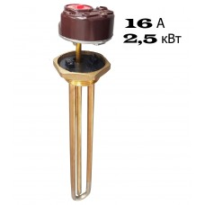 ТЭН для водонагревателей в комплекте с терморегулятором 15 А, 2.5 кВт, типа Ariston