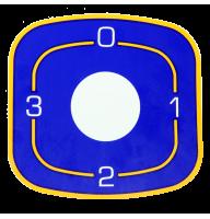 Наклейка ЭПК48-00.00.004 под переключатели для промышленных плит Абат