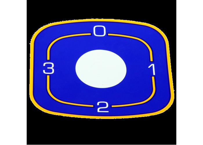 Наклейка ЭПК48-00.00.004 под переключатели для промышленных плит Abat